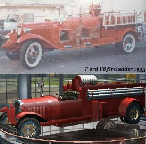 Ford V8 fireladder 1933